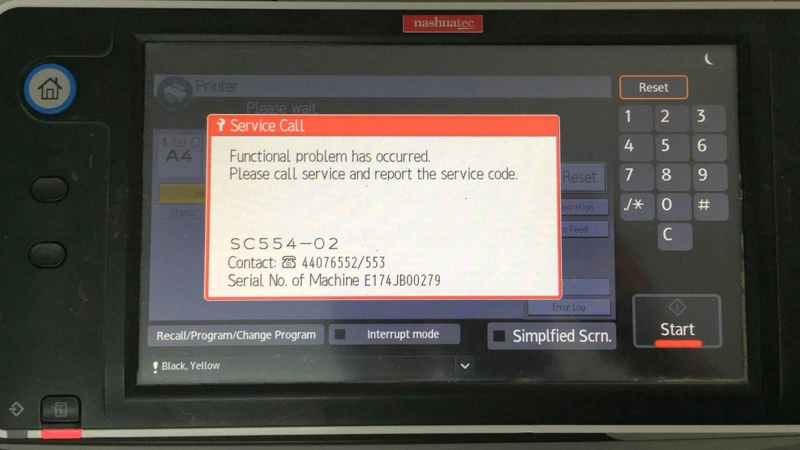 Sửa lỗi SC 554-02 ricoh