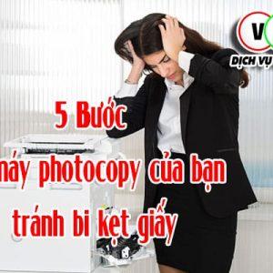 5 Bước để máy photocopy của bạn tránh bị kẹt giấy