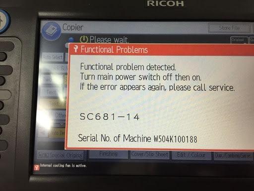 sửa lỗi SC 681-14