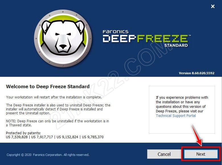 phần mềm đóng băng ổ cứng Deep Freeze