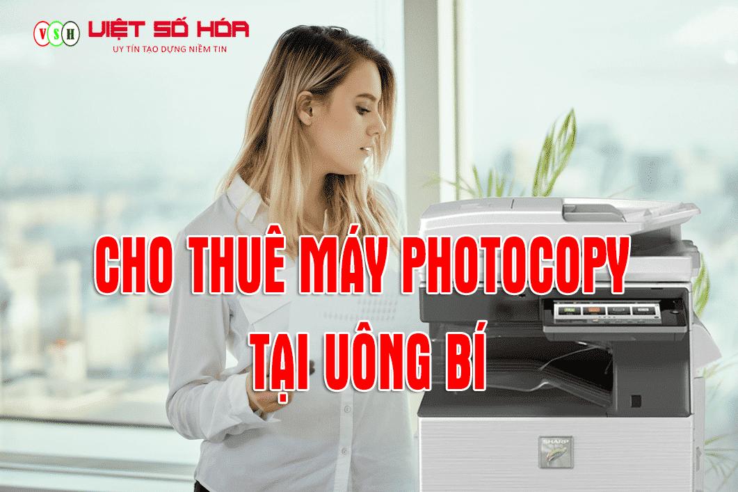 Cho thuê máy photocopy tại Uông Bí Quảng Ninh