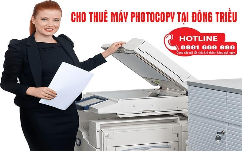Cho thuê may photocopy tại Đông Triều
