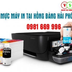 Đổ mực máy in tại Hồng Bàng Hải Phòng