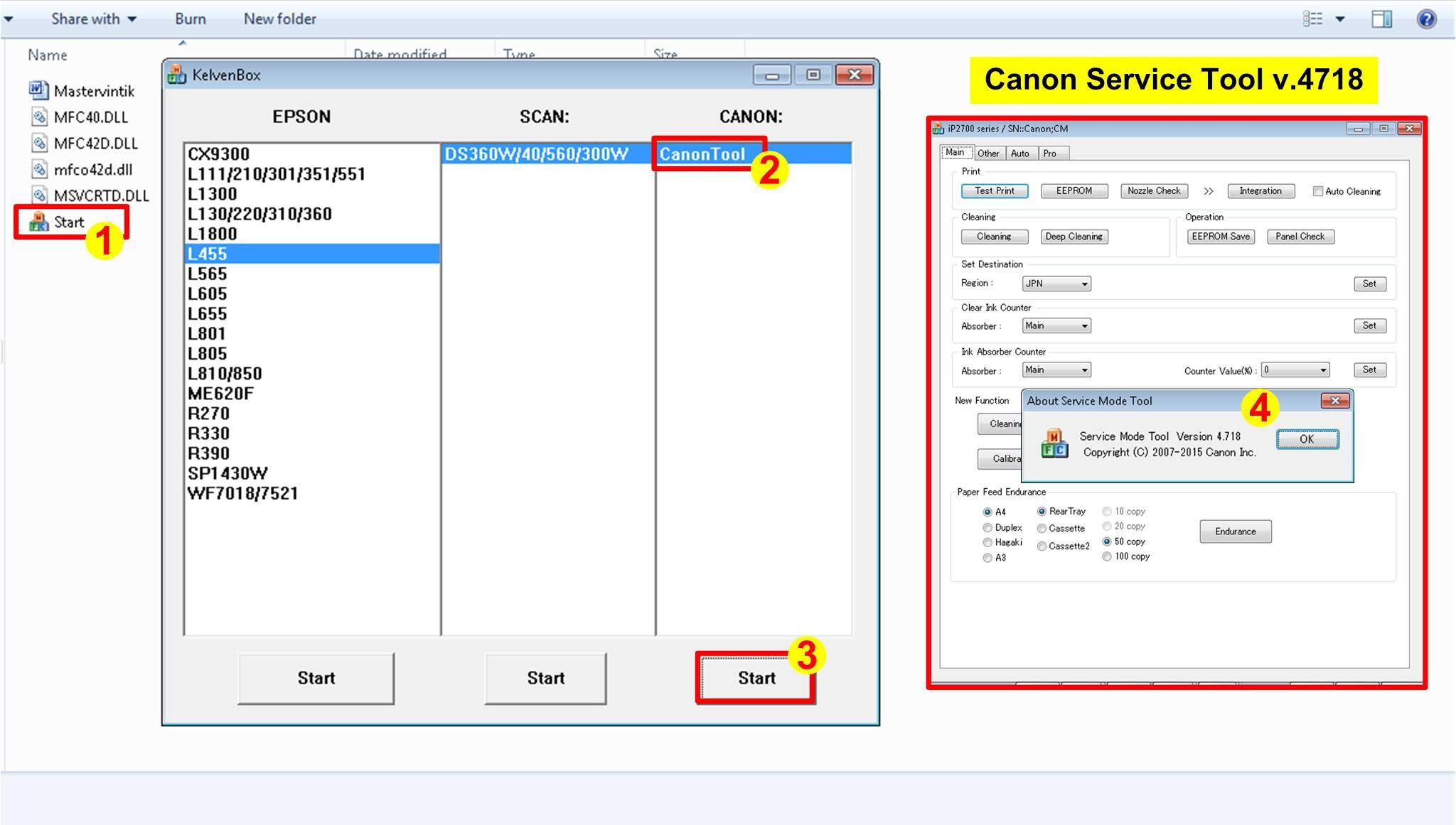 Open Canon Service Tool v.4718