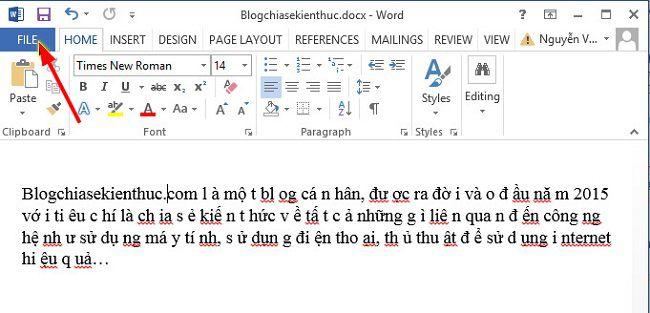 chu trong file word bi cach quang 1