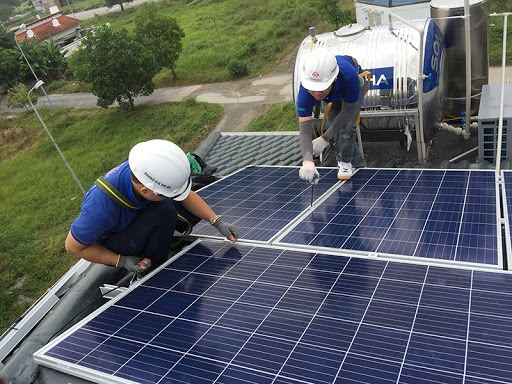 Lắp điện năng lượng mặt trời tại An Dương