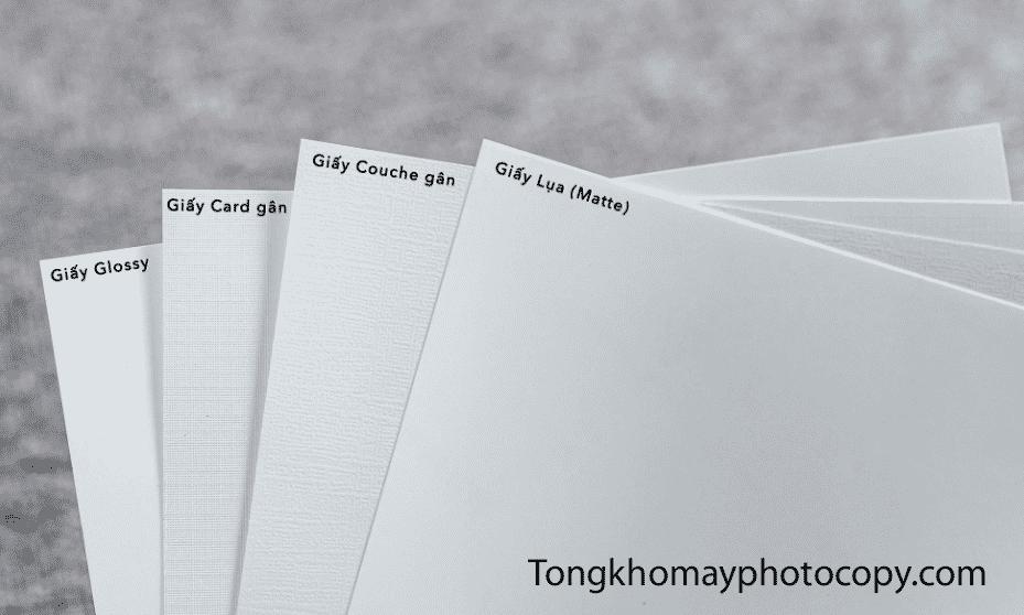 phân biệt các loại giấy in ảnh