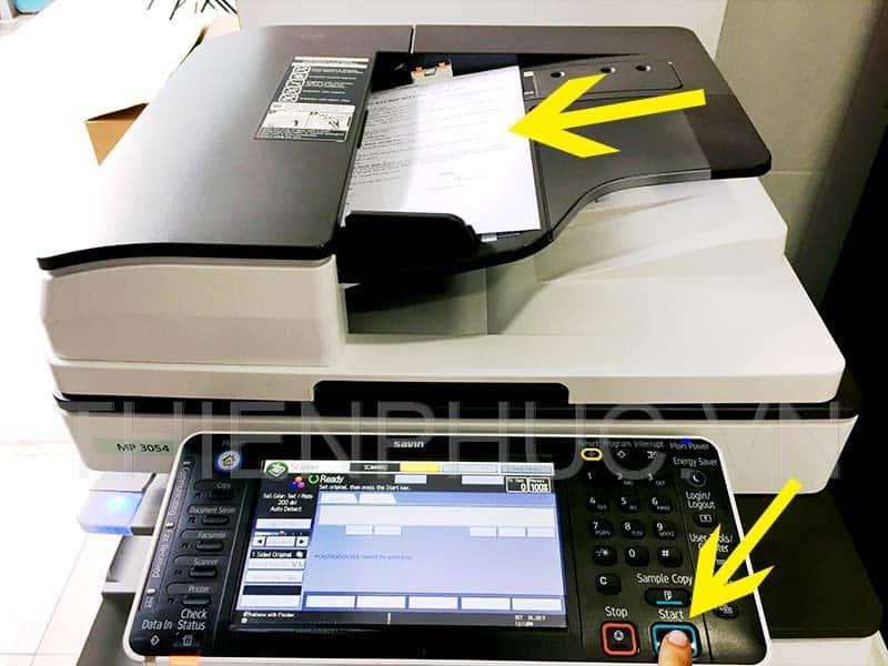 Cách lấy file scan máy photocopy Ricoh nhanh chong