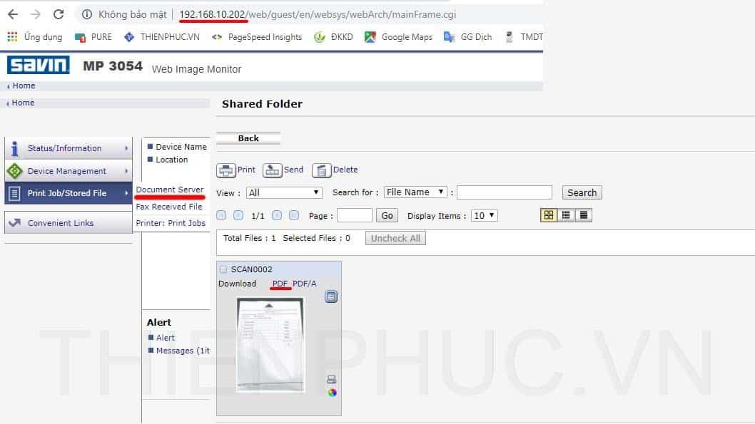 Cách lấy file scan đơn giản ở máy ricoh