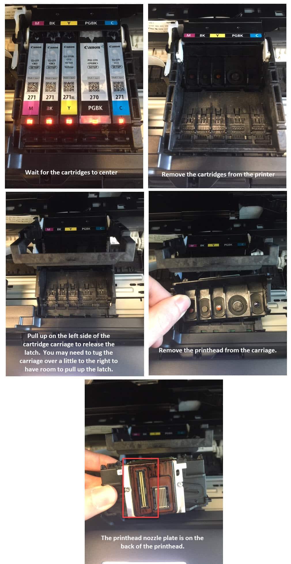 canon printhead removal