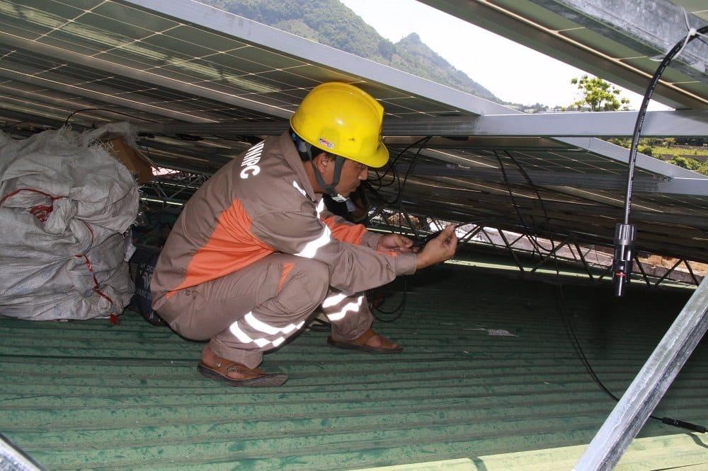 Lắp điện năng lượng mặt trời tại Hồng Bàng