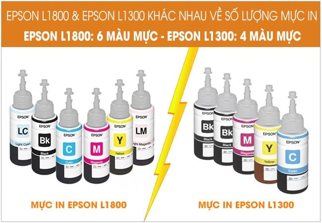 so sanh epson l1300 va l1800 ve so luong muc in theo may