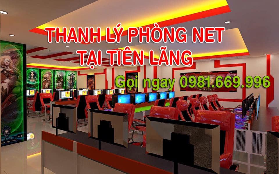 Thanh lý quán net giá cao tại huyện tiên lãng