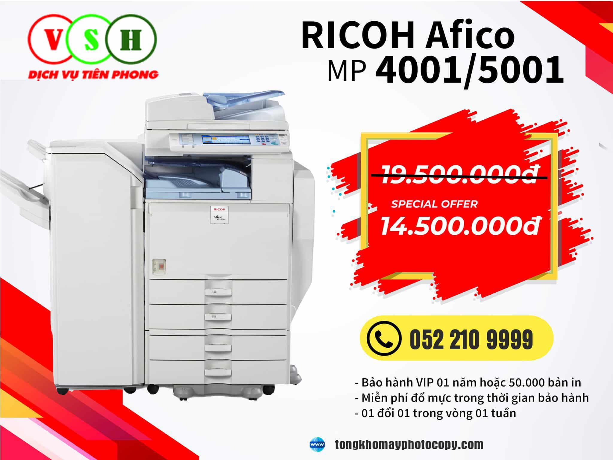 Khuyến mại máy photocopy Ricoh MP 5001