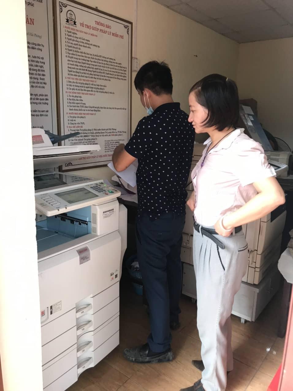 Cho thuê máy photocopy tại Kiến Thụy giá rẻ