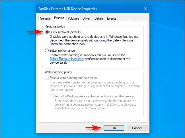 """Làm sao để không phải """"Safely Remove"""" USB nữa 4"""