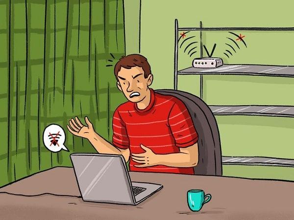 Bề mặt kim loại và đồ nội thất khiến wifi hoạt động kém hiệu quả