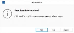 Save Scan Information