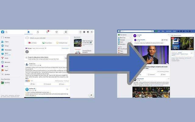 cach quay tro lai giao dien facebook cu bang extension tren google chrome