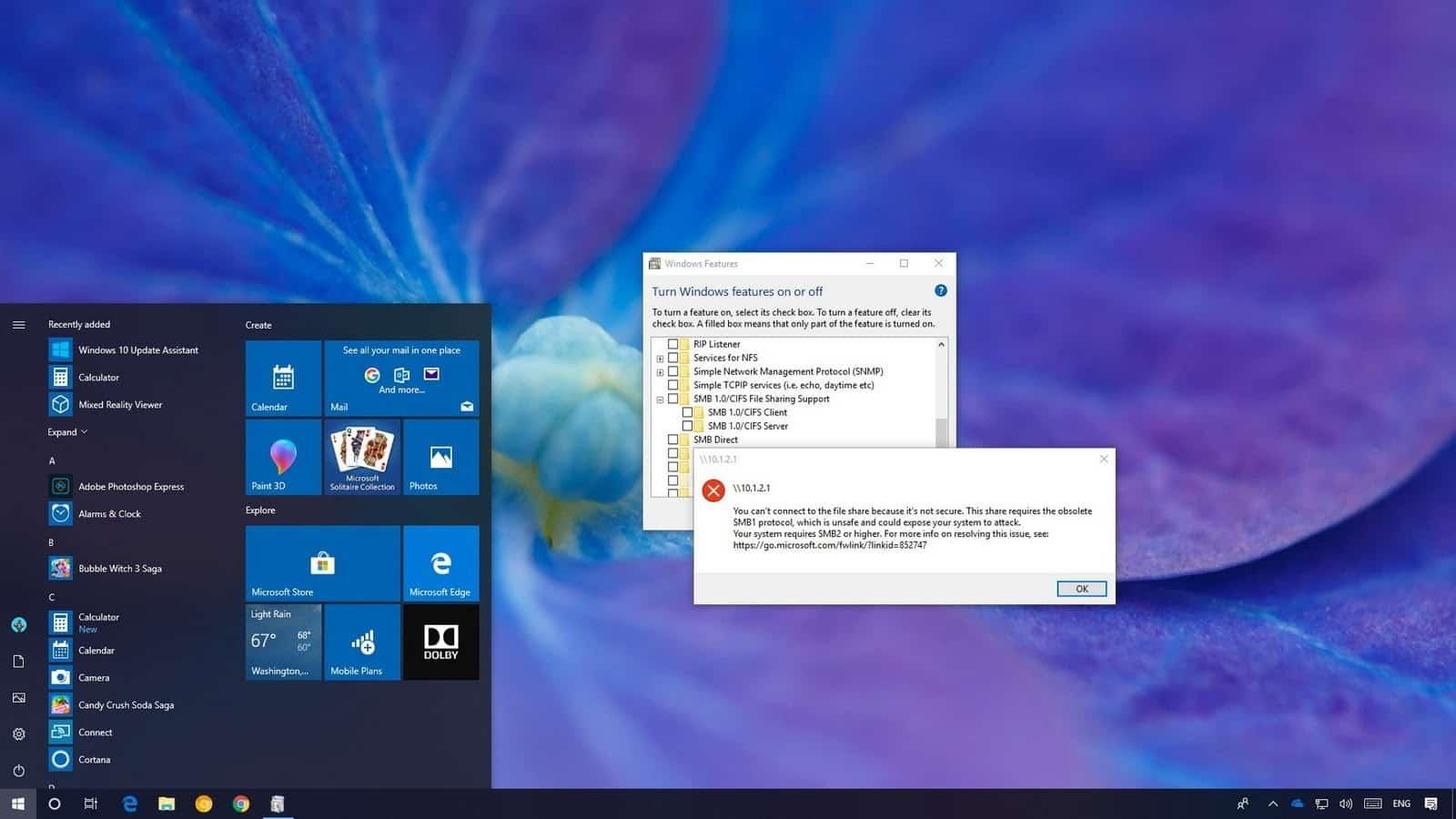 windows10 smb1 network access 1