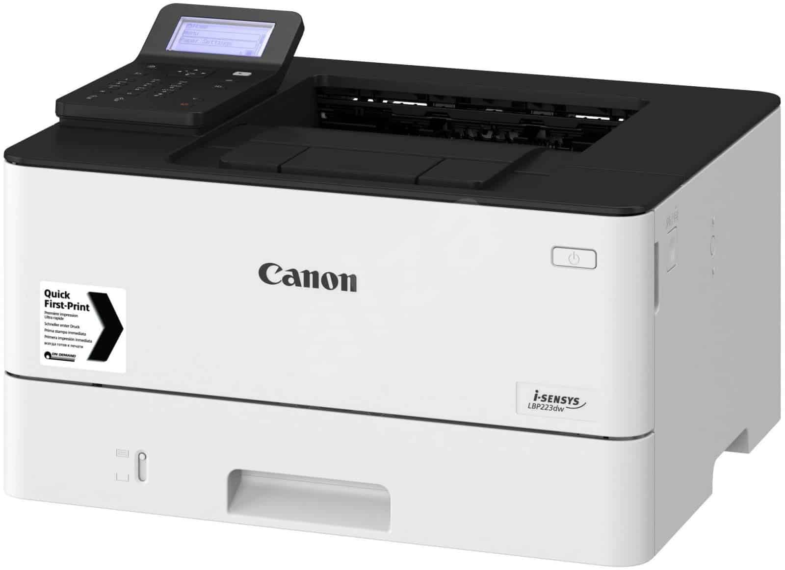Canon 223dw la may in 2 mat tu dong gia re