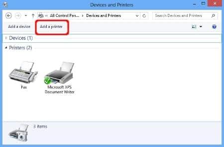 Cài thêm máy in mới