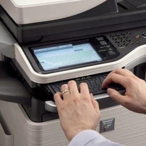 Cách vào code máy photocopy sharp