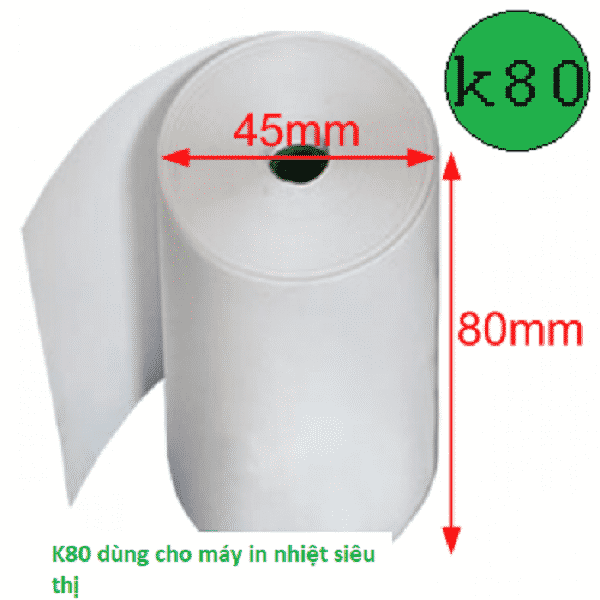 Giấy in nhiệt K80