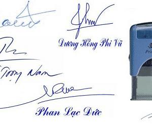 Khắc dấu chữ ký tại Hải Phòng