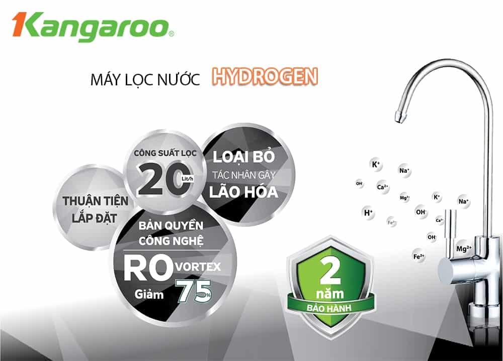 Máy lọc nước Kangaroo hydrogen KG100HG
