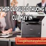 Tổng hợp các sự cố thường gặp của máy in