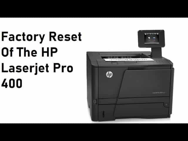 reset HP 401d