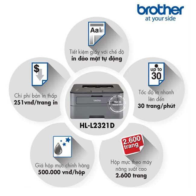 Brother HL-L2321D Máy in Laser