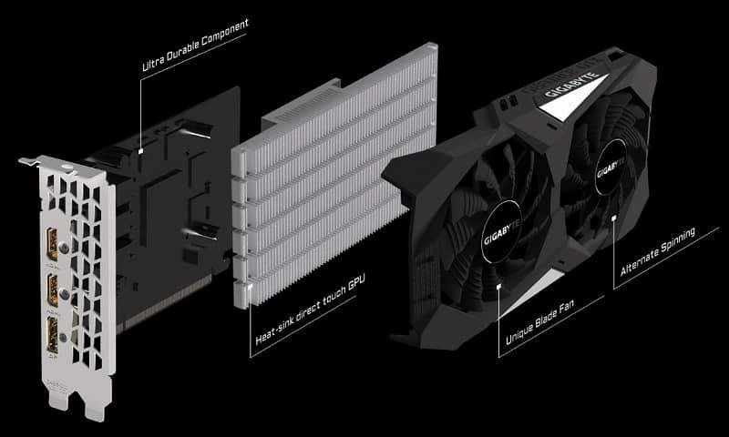 GIGABYTE GeForce GTX 1650 4GB GDDR5 OC 2