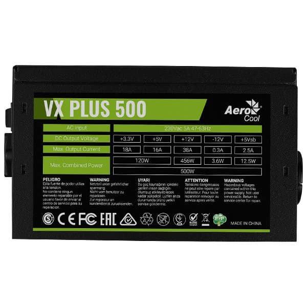 PSU AEROCOOL VX PLUS 500W