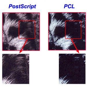 PCL and PostScript output quality