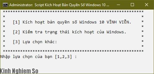 Cách Active Windows 10