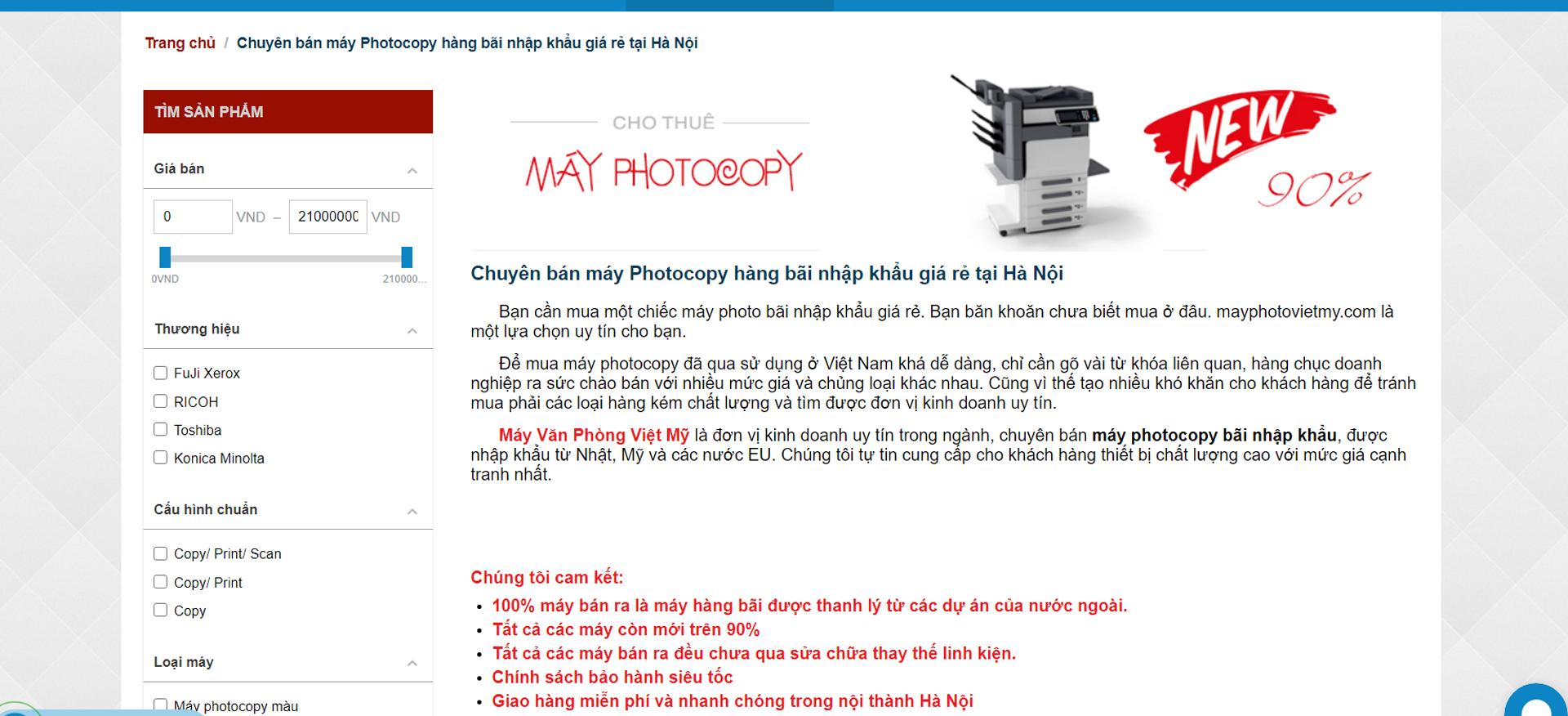 Bán máy photocopy tại hà Nội