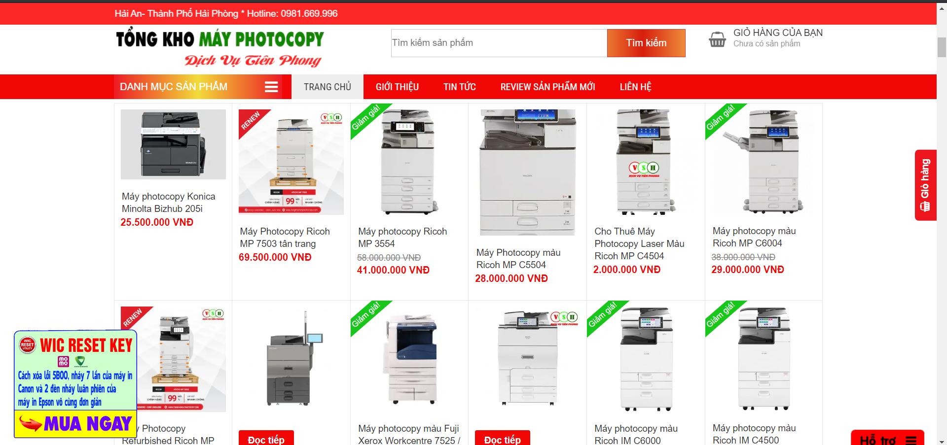 Công ty Việt Số Hóa Bán máy photocopy tại Hà Nội Uy tín nhất