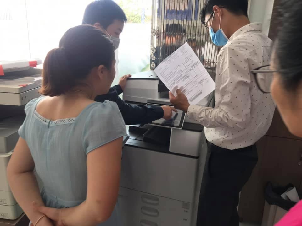 Bàn giao máy photocopy tại Kiến An