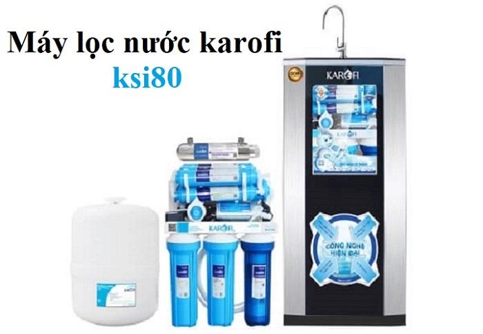 Máy lọc nước RO Karofi ksi80-a 8 lõi có tủ IQ cao cấp