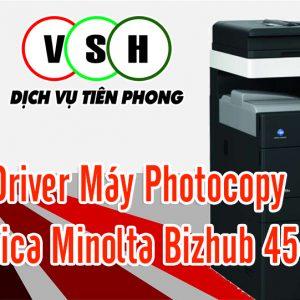 Tải driver Máy Photocopy Konica Minolta Bizhub 454e