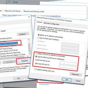 Hướng dẫn thay DNS windows 10